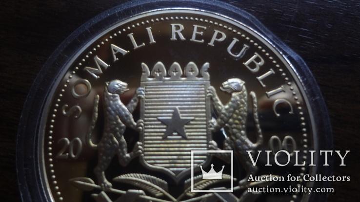10  долларов 2000 Сомали Дракон серебро, фото №6