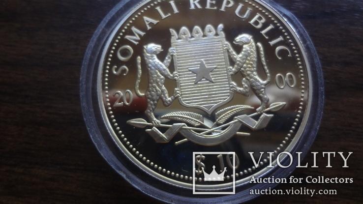 10  долларов 2000 Сомали Дракон серебро, фото №7