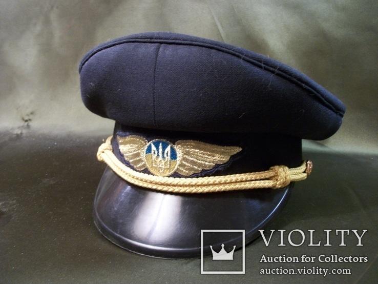 1113 Фуражка, летчик, гражданская авиация, Украина, 57-й размер, фото №3