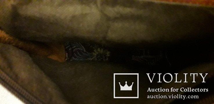 Шкіряна сумка із вставками гобелену, фото №9