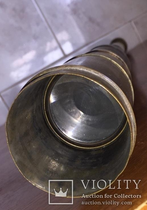 Большая старинная зрительная труба, фото №7
