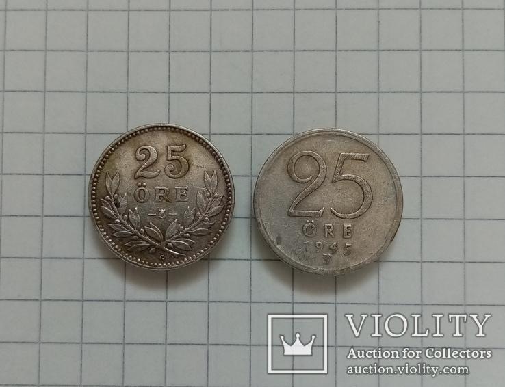 Швеция 25 эре 1934-1945г серебро, фото №2