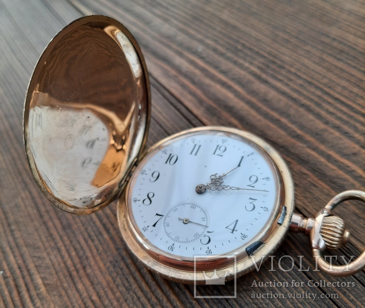 Золотые карманные часы система глашют