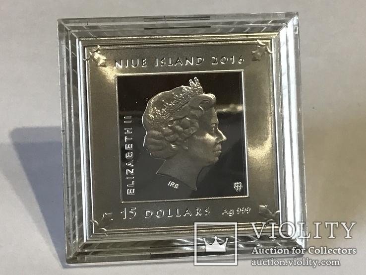 15 долларов. Ниуэ 2016 г. Серебро 3 унции, фото №3