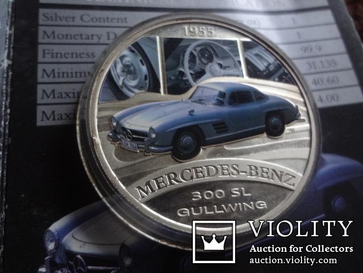 1  доллар  2006  Тувалу  Мерседес   серебро унция 999 ~, фото №2