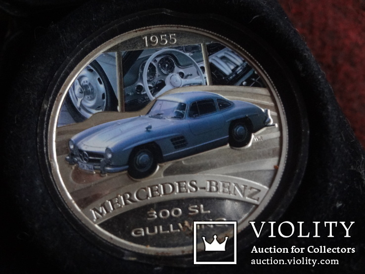 1  доллар  2006  Тувалу  Мерседес   серебро унция 999 ~, фото №4