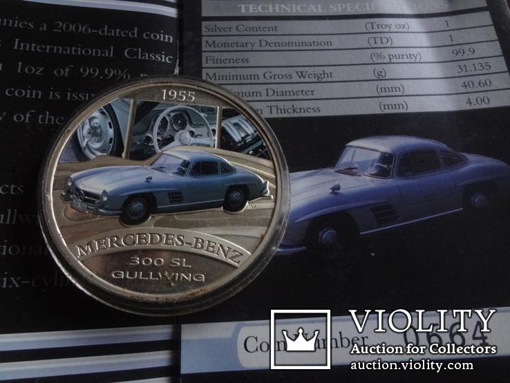 1  доллар  2006  Тувалу  Мерседес   серебро унция 999 ~, фото №8