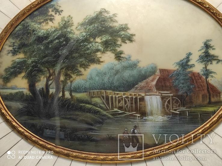 Пара старых картин,дерево, слоновая кость., фото №11