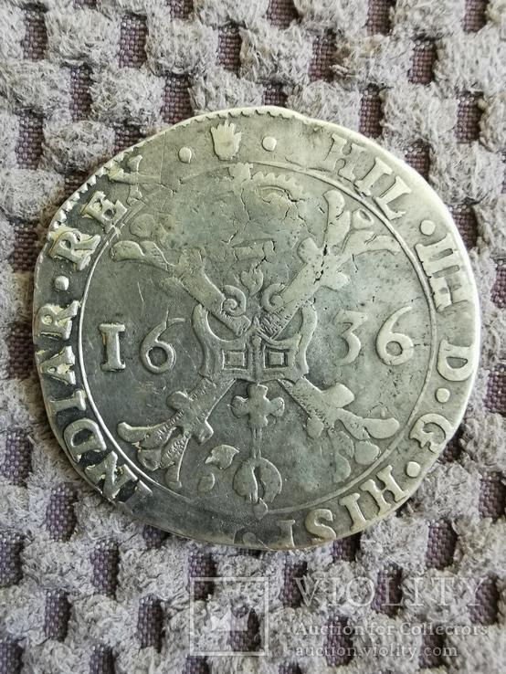 Испанский талер Патагон 1636 года