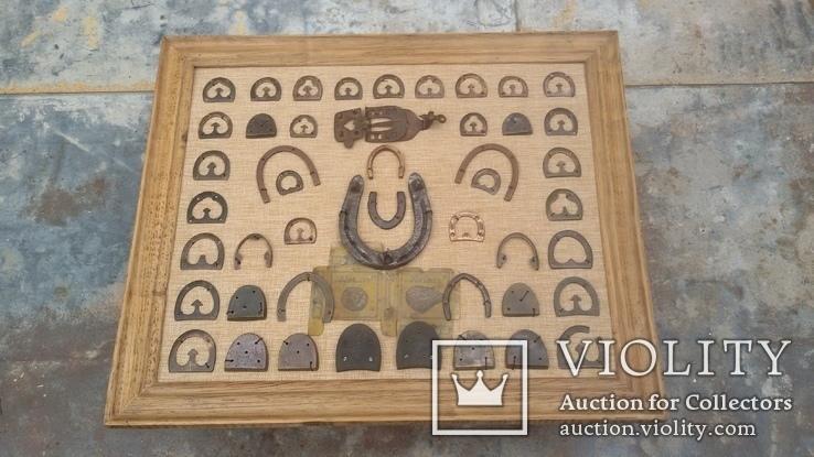 Колекція набойок, підков, каблуків, та інше картина колаж, панно, фото №4