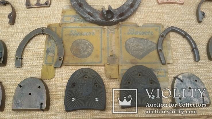Колекція набойок, підков, каблуків, та інше картина колаж, панно, фото №6