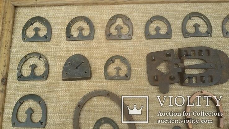 Колекція набойок, підков, каблуків, та інше картина колаж, панно, фото №9