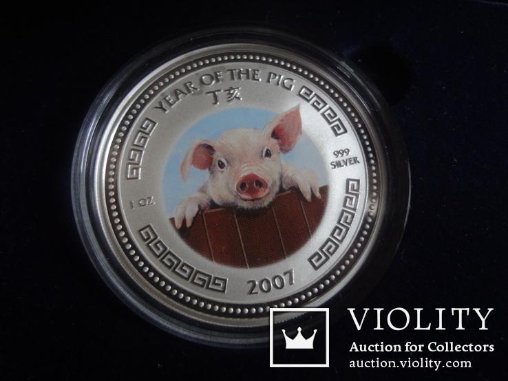 3000 риелс 2007  Камбоджа  1 унция серебро 999 ~, фото №2