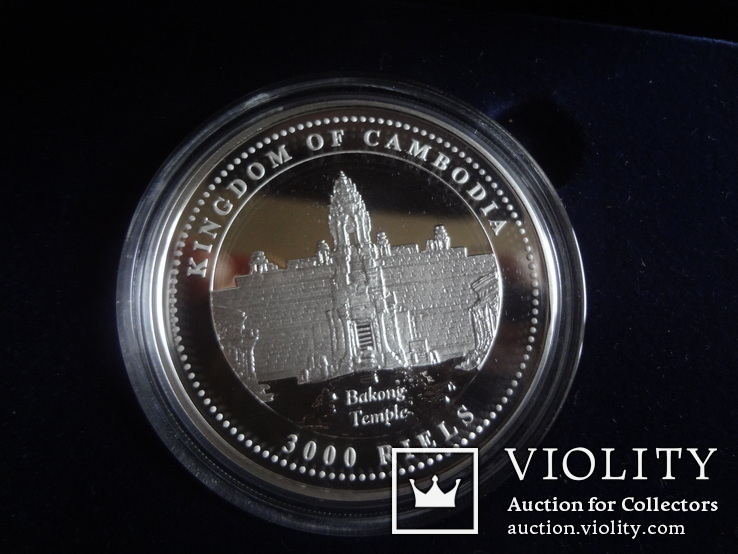 3000 риелс 2007  Камбоджа  1 унция серебро 999 ~, фото №3