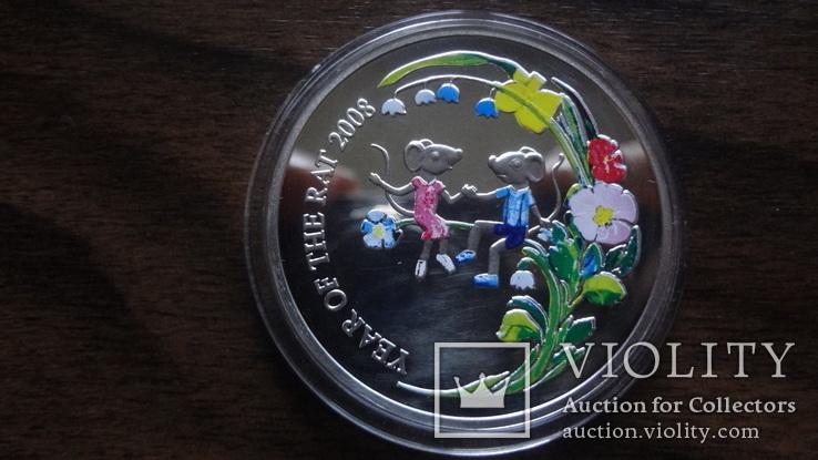 1  доллар  2007  Ниуэ  год Мыши серебро, фото №2