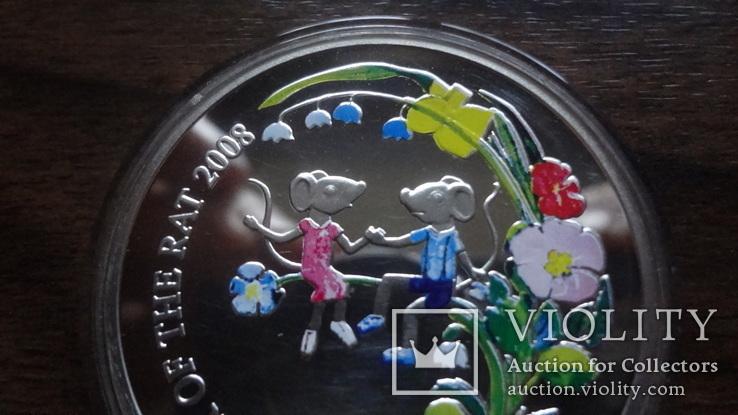 1  доллар  2007  Ниуэ  год Мыши серебро, фото №3