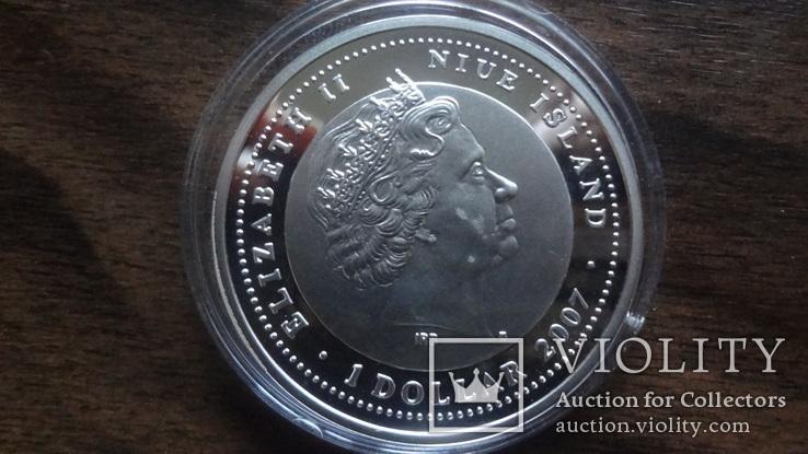 1  доллар  2007  Ниуэ  год Мыши серебро, фото №5