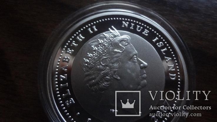 1  доллар  2007  Ниуэ  год Мыши серебро, фото №6