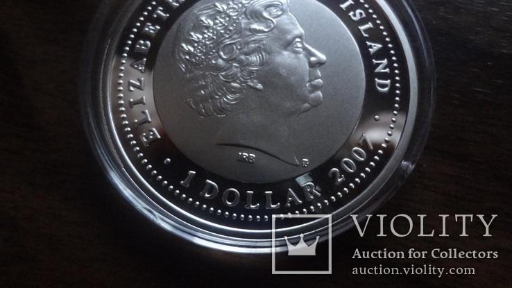 1  доллар  2007  Ниуэ  год Мыши серебро, фото №7