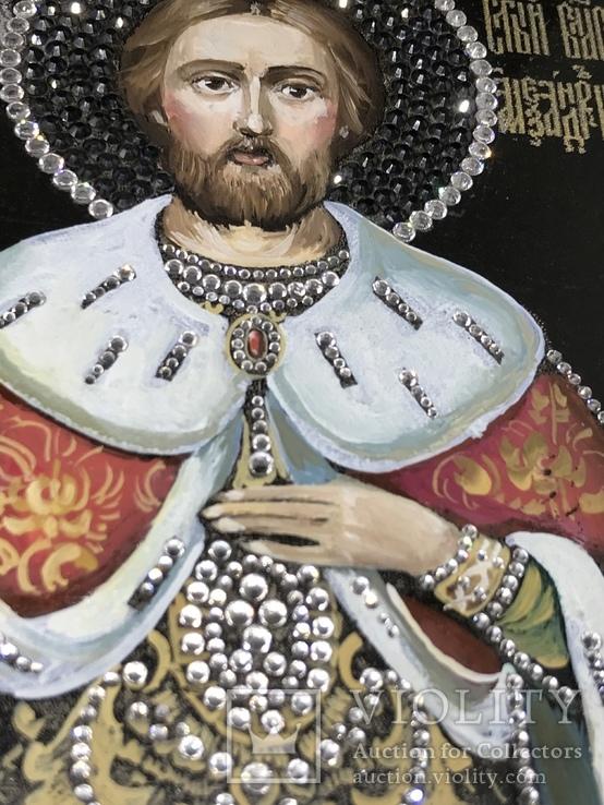 Современная Икона Святой князь Александр Невский, фото №4