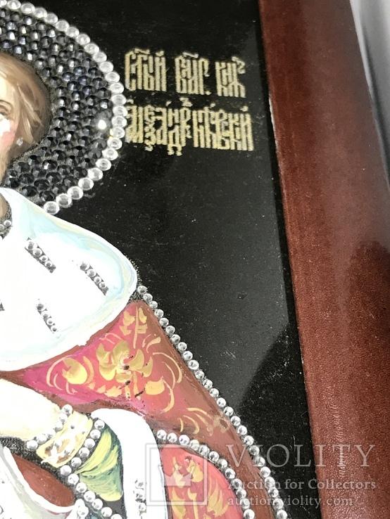 Современная Икона Святой князь Александр Невский, фото №5