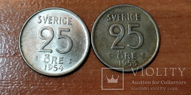 Две монеты Швеции