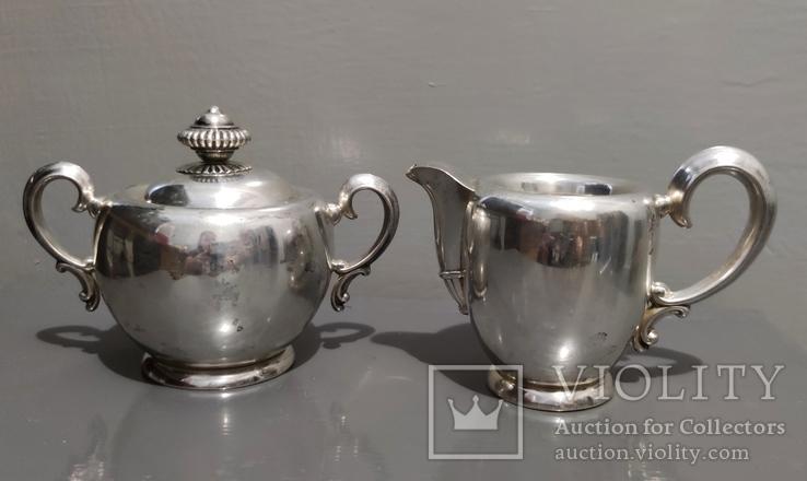 Чайный Сервиз серебро, фото №7