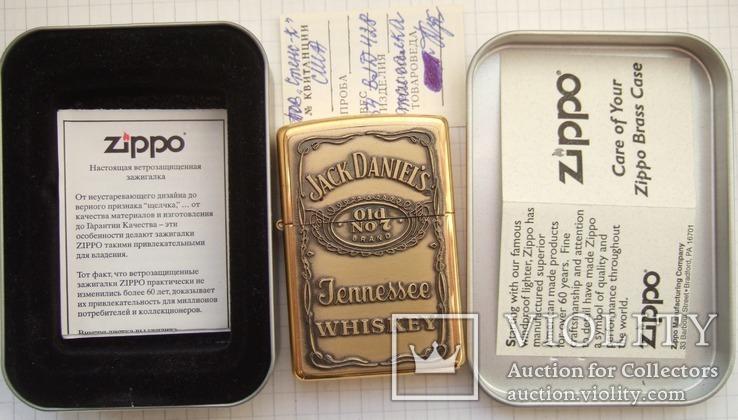"""Зажигалка """"Zippo Jack Daniel""""s"""" 2003 года., фото №2"""