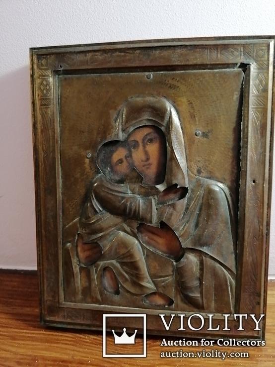 Икона Владимирская Богородица в окладе, фото №7