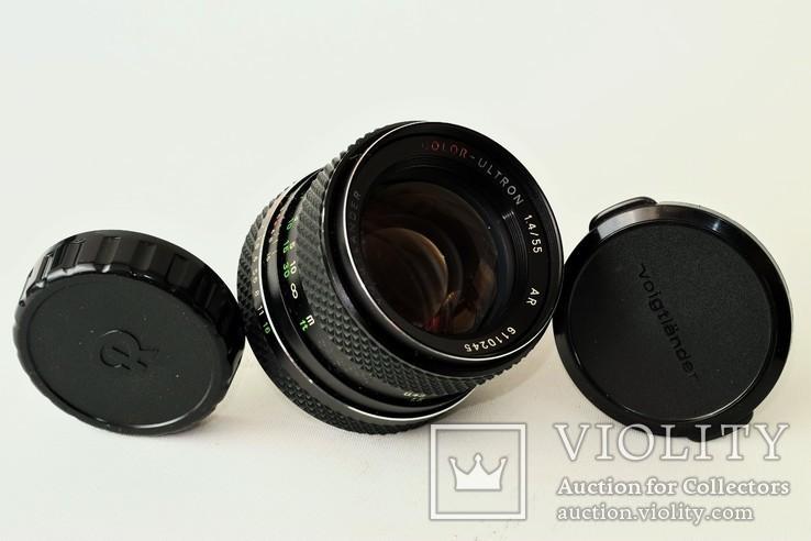 Светосильный объектив, Voigtlander Color-Ultron 1,4/55 AR Rolleiflex QBM байонерт, фото №2