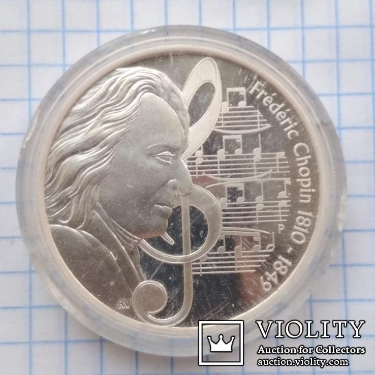 1 доллар 2010 год Тувалу, Фредерик Шопен из серии «Великие Композиторы», фото №3