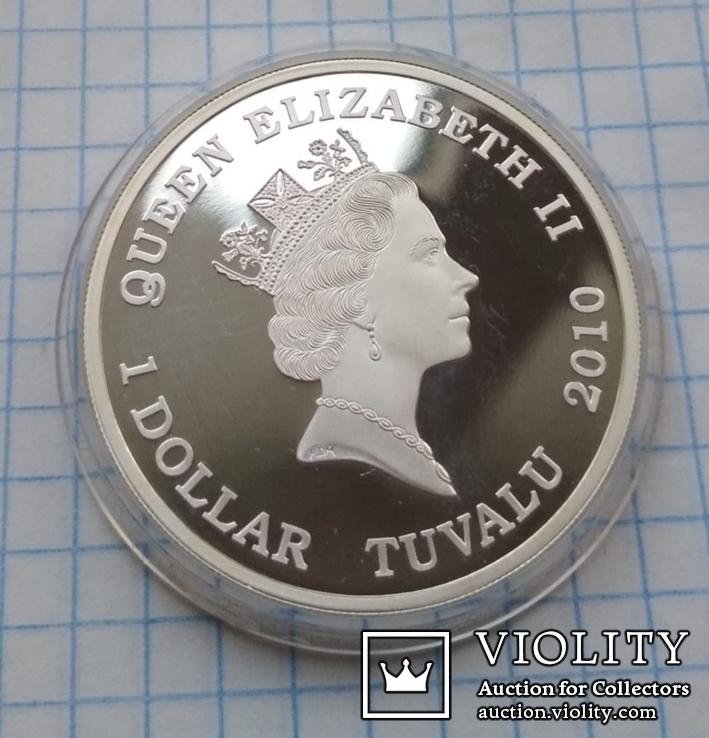 1 доллар 2010 год Тувалу, Фредерик Шопен из серии «Великие Композиторы», фото №6