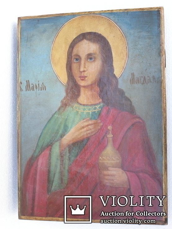 Икона мария магдалина 450мм Х 330мм, фото №5