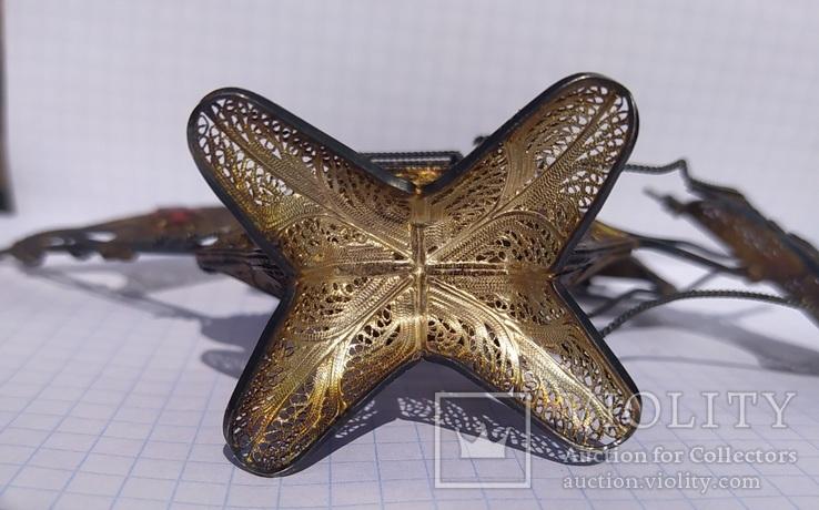 Серебряный парусник, скань, эмаль., фото №11