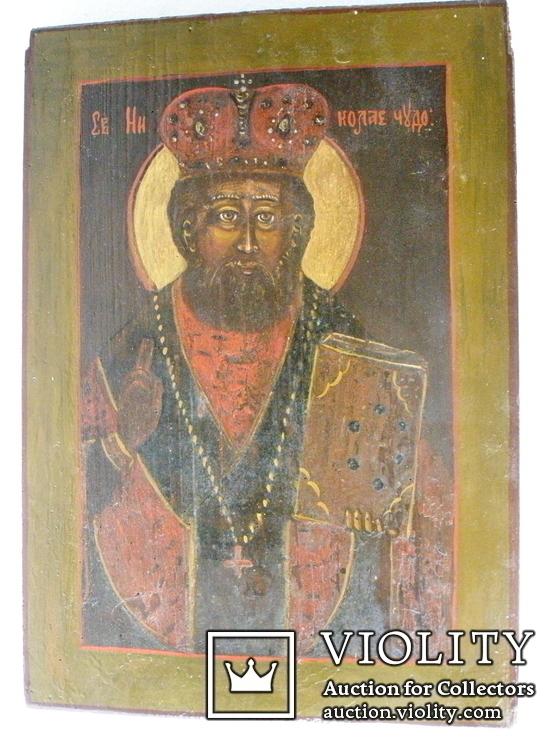 Икона николая чудотворца 390мм.Х 270мм., фото №2