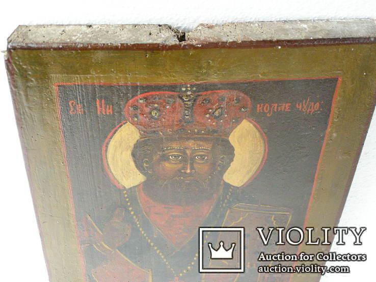 Икона николая чудотворца 390мм.Х 270мм., фото №3
