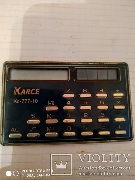 Калькулятор карманный Karce.Редкий., фото №2