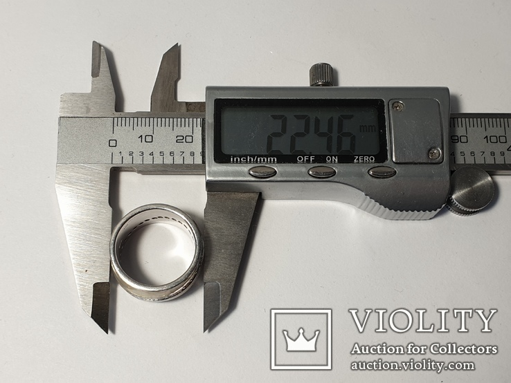 Набор серьги с кольцом 925 пробы с перламутровыми вставками 26,43 гр, фото №7
