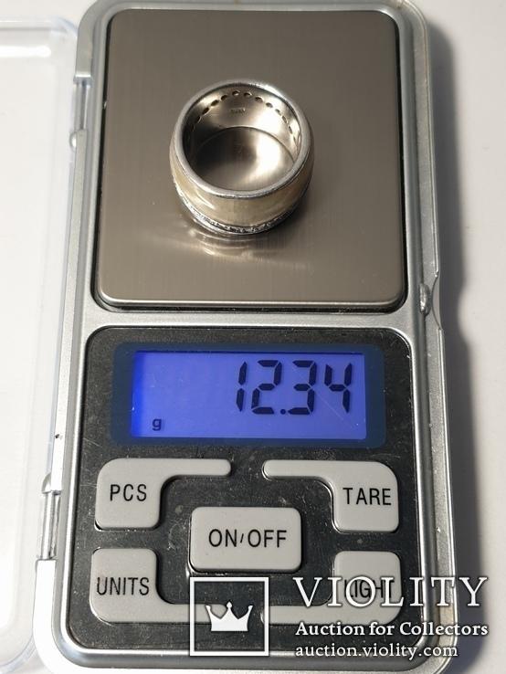 Набор серьги с кольцом 925 пробы с перламутровыми вставками 26,43 гр, фото №8