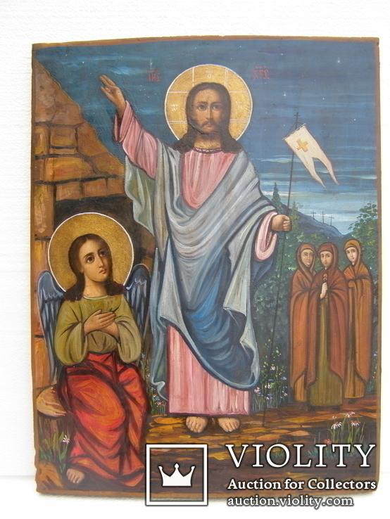 Икона воскресение христово 455 мм. Х 335 мм,, фото №2