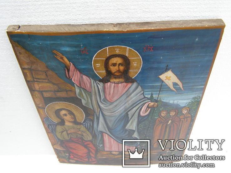 Икона воскресение христово 455 мм. Х 335 мм,, фото №3