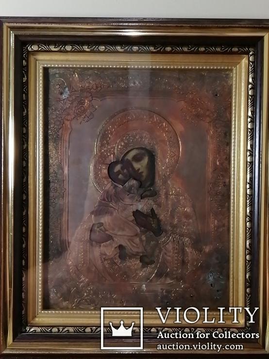 Икона Владимирская Богородица в окладе, фото №4