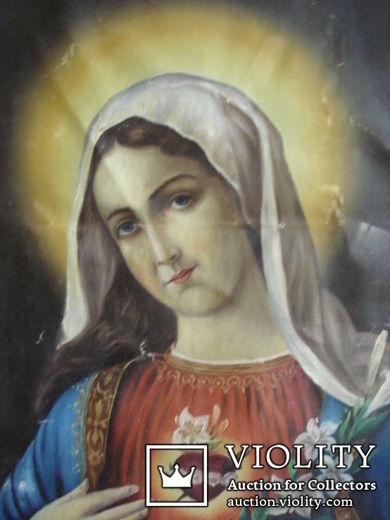 """Богородица"" икона на холсте., фото №3"