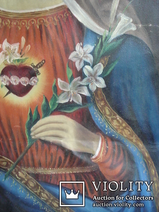 """Богородица"" икона на холсте., фото №8"