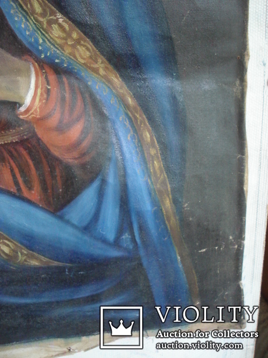 """Богородица"" икона на холсте., фото №9"