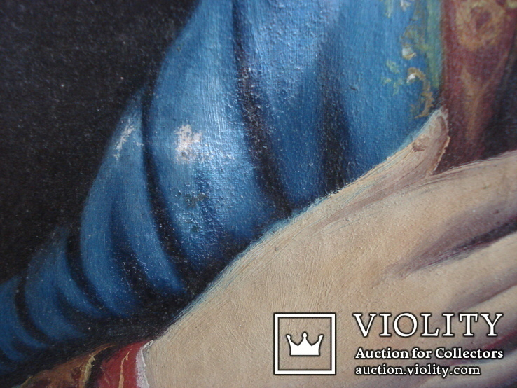 """Богородица"" икона на холсте., фото №10"