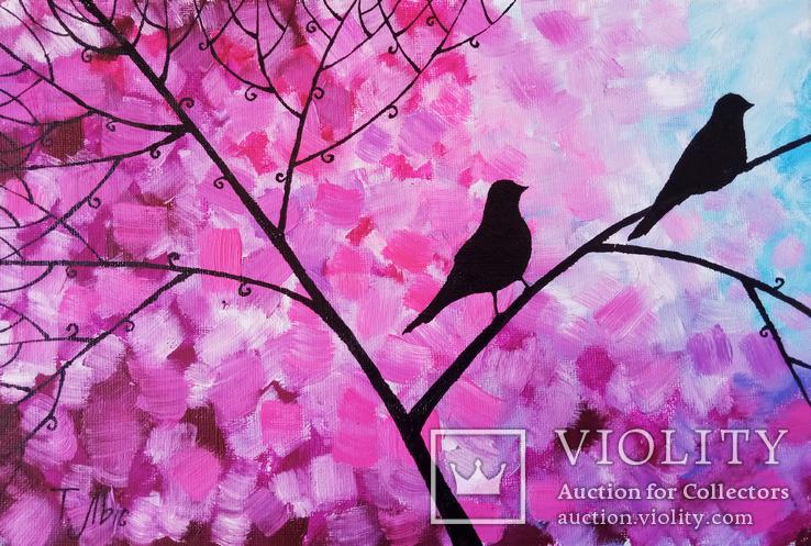 Картина диптих 20х30 см Птички, фото №4