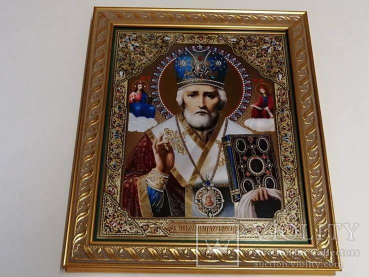 Икона Николая Чудотворца. Современная, фото №2
