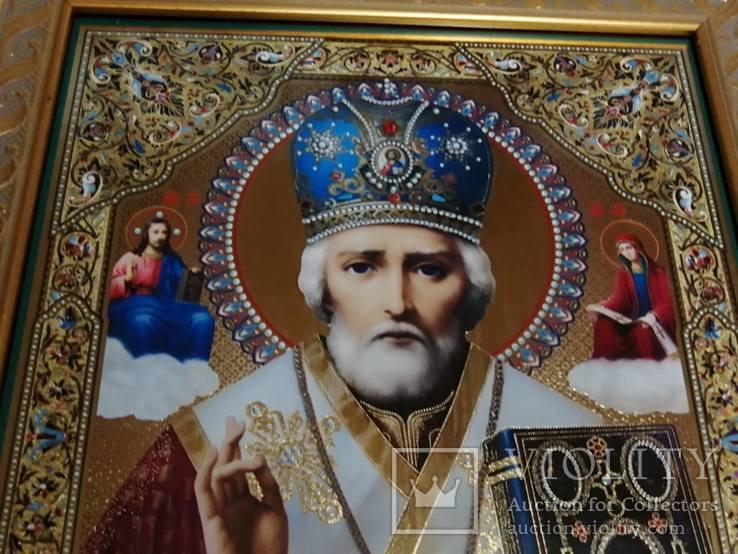 Икона Николая Чудотворца. Современная, фото №3
