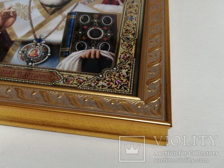 Икона Николая Чудотворца. Современная, фото №5
